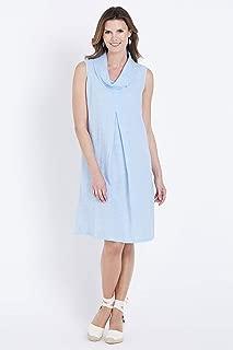 W.Lane Cowl Linen Tuck Dress - Womens