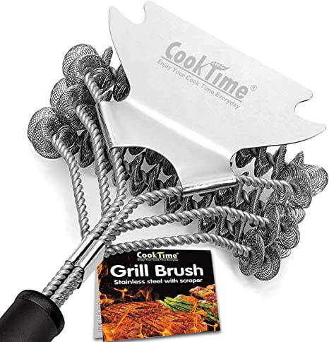 Amazon.com : Cook Time Safe Grill Brush - Bristle Free BBQ Grill Cleaner/Scraper - 18