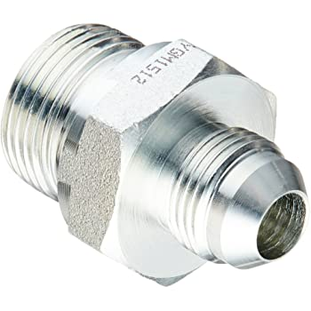 1-1//16-12 Male JIC x 3//4-14 Male BSPP 1-1//16-12 Male JIC x 3//4-14 Male BSPP Inc. Brennan Industries 7002-12-12 Steel Straight Conversion Adapter Fitting