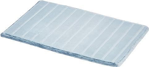 AmazonBasics Striped Memory Foam Bath Mat - azul, Small