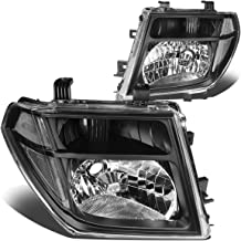 DNA Motoring Black clear HL-OH-073-BK-CL1 Pair of Headlight Assembly [05-08 Nissan Frontier/Pathfinder]