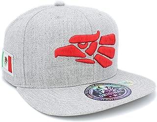 Embroidered Eagle Head with Mexico Flag Snapback Baseball Cap
