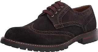 Steve Madden حذاء أوكسفورد KOMMBER للرجال، بني سويدي، 10. 5
