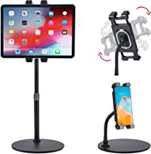 Facilife Tablet Stand Holder, Height and Angle Adjustable Tablet Holder, Phone Stand Holder for Tablet and Cell Phone, iPa...