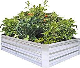 Galvanized Raised Garden Beds for Vegetables Large Metal Planter Box Steel Kit Flower Herb, 6x3x1ft