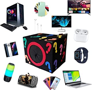 Mystery Box Electronics, Birthday Surprise Box, Lucky Box for Adultos Surprise Gift, como Drones, Smart Relógios, Gamepads...