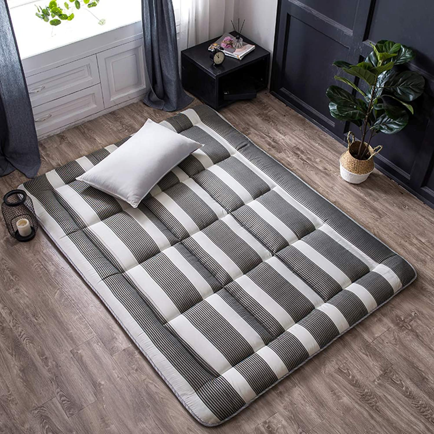 Futon Mattress Topper, Fiber Filling Quilted Hypoallergenic Folding Sofa Bed Mattress pad Tatami Floor Mat Dorm Bedroom -A 100x200cm(39x79inch)