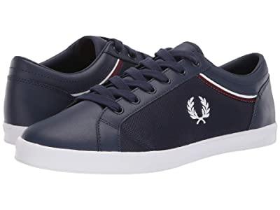Fred Perry Baseline Tipped Collar Mesh (Carbon Blue/White) Men