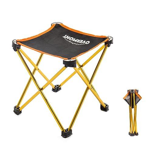 Overmont Silla taburetre Plegable de Aluminio Ultraligero portatil Impermeable para Acampar Camping Pesca Picnic etc.