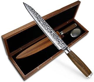 adelmayer®-Damascus Knife Couteau à fileter 20,5cm - Couteau de Cuisine à Tranchant aiguisé Selon la Technique de Pays mon...