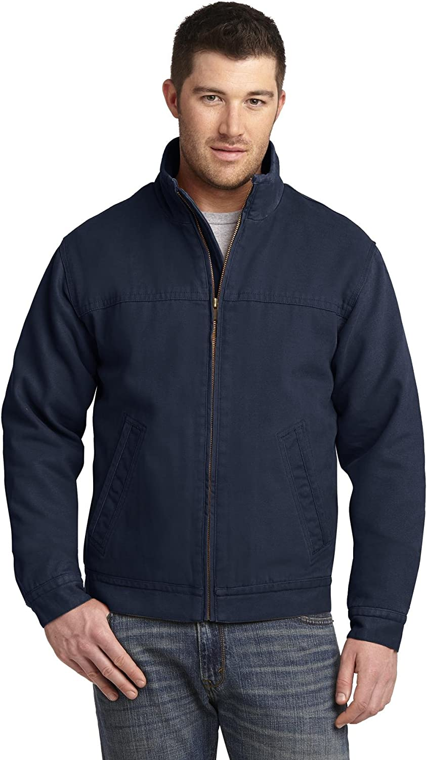 Cornerstone Mens Washed Duck Cloth Flannel-Lined Work Jacket