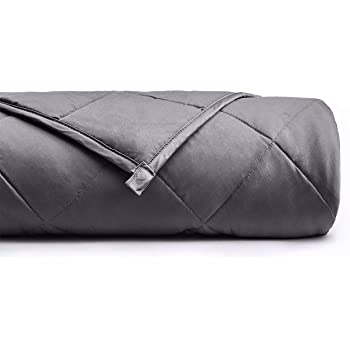UMI Weighted Blanket for Sleep, Stress and Anxiety | 9KG Heavy Blanket for 72.5-86KG Individuals, 152CM x 203CM for Queen Bed | 100% Cotton Material with Glass Beads, Dark Grey