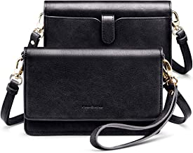 nuoku Women Small Crossbody Bag Cellphone Purse Wallet with RFID Card Slots 2 Strap..