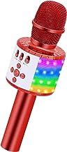 BONAOK Wireless Bluetooth Karaoke Microphone, Portable Karaoke Machine with Built in Speaker for Kids and Adults Christmas...