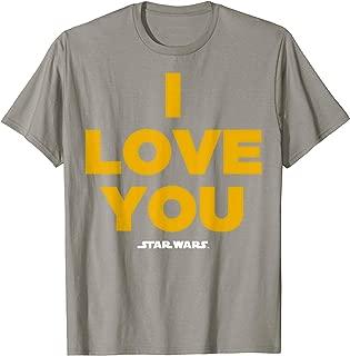 Star Wars Princess Leia I Love You Graphic T-Shirt C1