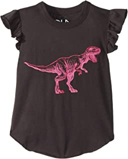 Super Soft Vintage Jersey Pink Dinosaur Tee (Toddler/Little Kids)