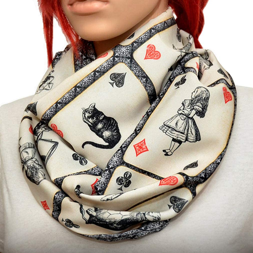 Alice in wonderland Max Max 81% OFF 71% OFF Infinity scarf Small print