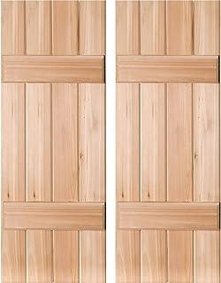 Homeside 4 Board and Batten Joined Shutter 1 Pair 14-1//2in 090 Bordeaux x 67in