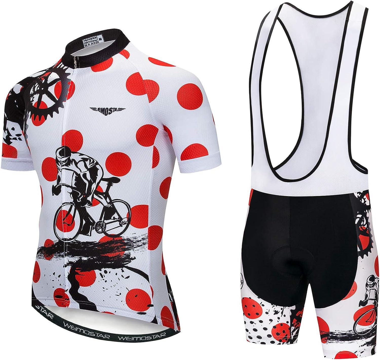Men's Cycling Jersey and Shorts 価格 交渉 送料無料 an Sleeved お買い得品 Bike Set Short