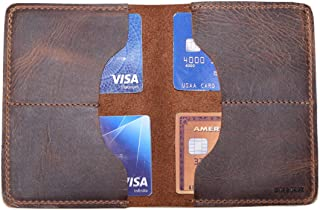 Hide & Drink, Leather Large Card Holder, Holds Up to 16 Cards Plus Flat Bills/Money Organizer/Cash/Case/Pouch, Handmade Includes 101 Year Warranty :: Bourbon Brown