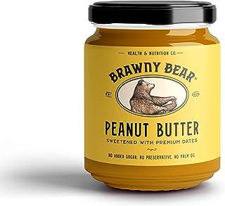 Brawny Bear Peanut Butter Date Sweetened (500g) | No Added Sugar | Vegan