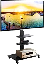 Rfiver Universal Mobile TV Stand Trolley Cart with Swivel Mount for Most 32