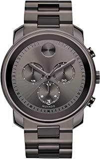 Movado Men's BOLD Metals Chronograph Watch with a Printed Index Dial, Grey (Model 3600277)