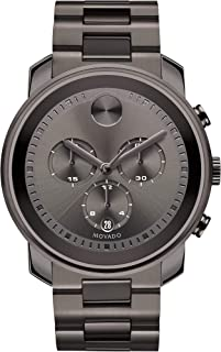 Men's BOLD Metals Chronograph Watch with a Printed Index Dial, Grey (Model 3600277)