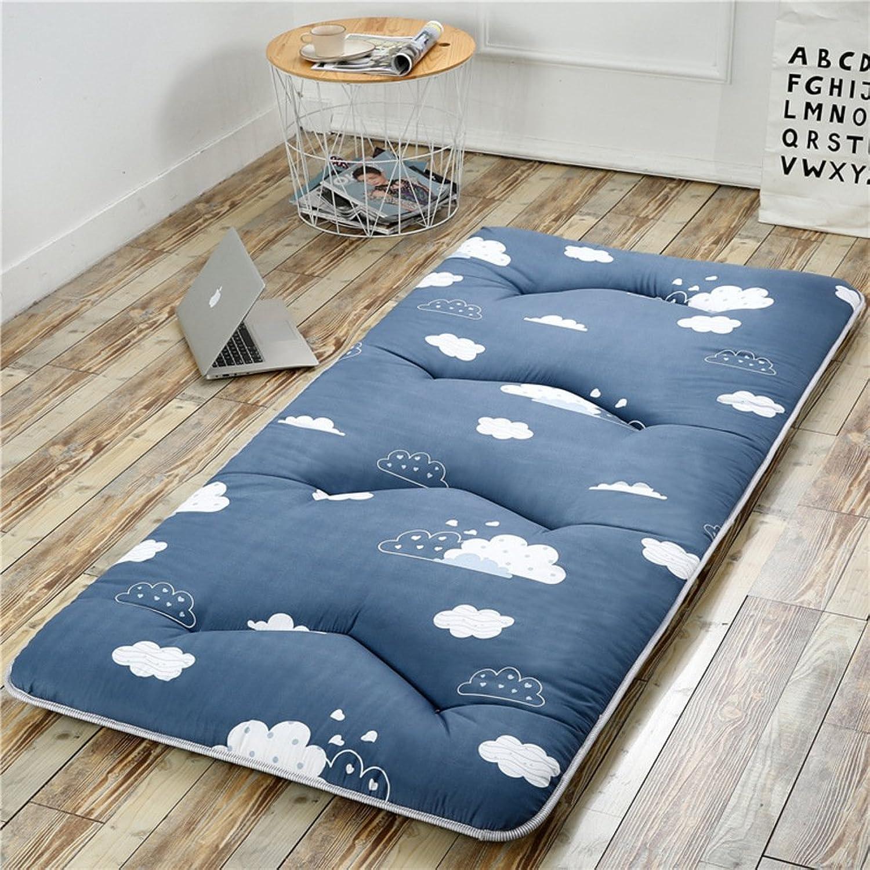Folding Tatami Floor mat,Portable Sleeping pad Queen-King Traditional Japanese futon Washable-C 150x200cm(59x79inch)