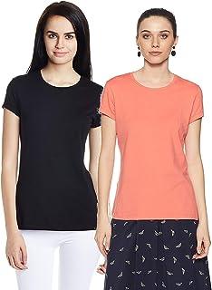 Jockey Women's Cotton Round Neck T-Shirt  (Pack of 2)