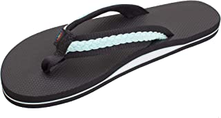 Rainbow Sandals Women's Single Layer Rubber w/Colorful Double Braided Nylon Strap