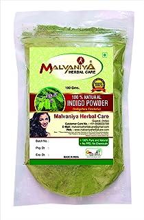 100% Natural Indigo Leaves (Indigofera Tinctoria) Powder As Hair Colorant Naturally (100 gm (0.22 lb) 3.5 ounces)