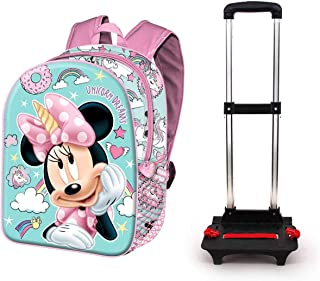 Minnie Mouse Unicornio-Mochila Basic con Carro