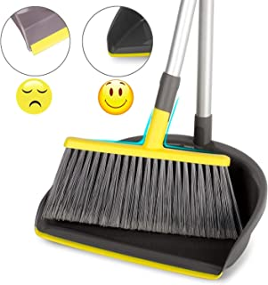 "Broom and Dustpan Set Upright, 40"" Brooms with Dust Pans Combo for Lobby Home.."