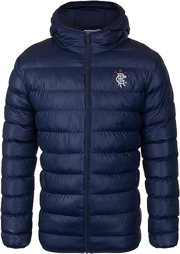 Rangers FC officiel - Doudoune matelassée thème football - à capuche - homme