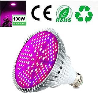Pawaca 100W LED Planta lámpara Espectro Total Plantas lámpara de luz, E27Grow LED Planta lámpara, luz Solar en invernaderos (150pcs LED)