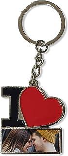 Llavero I Love Personalizado con Foto, Imagen o Nombre. Llavero metálico para Enamorados. Regalo Personalizado.
