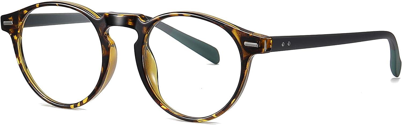 SKILEC Gafas Anti Luz Azul Gafas Lectura Hombre Mujer Gafas Ordenador TR Filtro Protección Azul UV Gafas Presbicia Hombre Antifatiga para PC Gaming Tablet TV Videojuegos Lentes Transparentes (Tortuga)