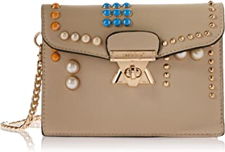 nikky Colorful Studded Design Beige Crossbody By Nikky, Beige (off-white) - NK10013-BE