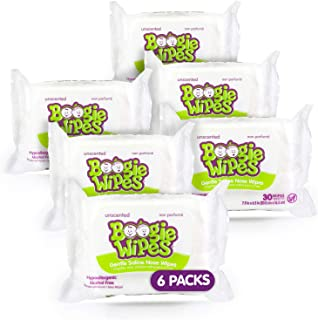 Boogie Wipes, Unscented Wet Wipes for Baby and Kids, Nose, Face, Hand, and Body, Soft and Sensitive Tissue Made with Natur...