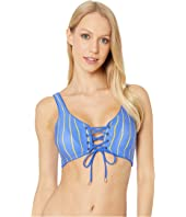 Smocking Dazzle Four-Way Reversible Bikini Top