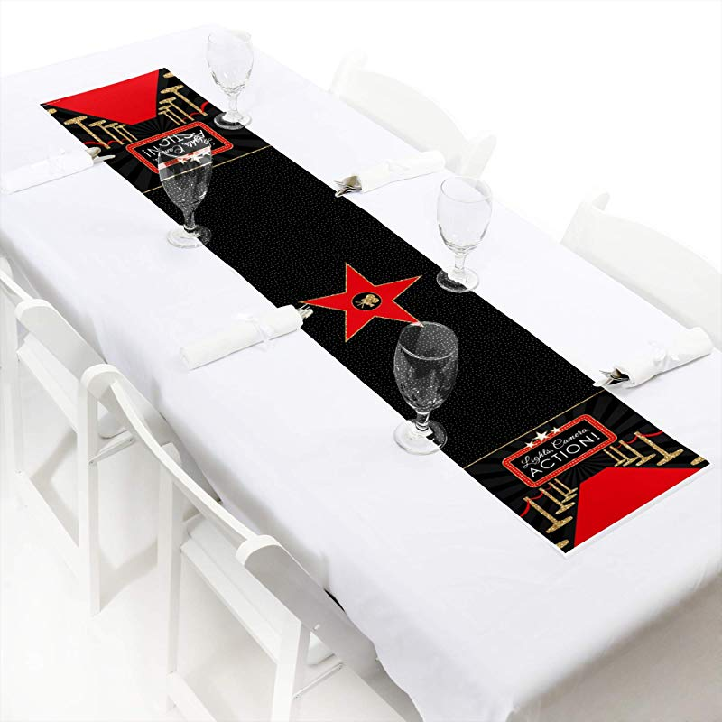 Big Dot Of Happiness Red Carpet Hollywood Petite Movie Night Party Paper Table Runner 12 X 60 Inches