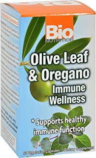 Bio Nutrition Immune Wellness - Olive Leaf and Oregano - 60 Vcaps (Pack of 2)