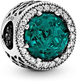 Pandora 791725NSG Green Starburst of Hearts Charm (Sea Green)