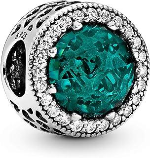 Pandora 791725NSG Sterling Silver Charm for Women - Sea Green