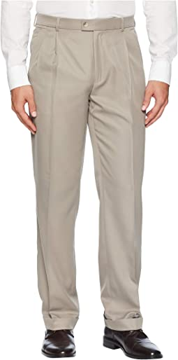 Double Pleated Classic Fit Performance Dress Pants