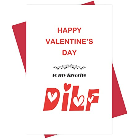Love Card for Boyfriend Naughty DILF Card for Husband Partner Funny Happy Valentines Day Card