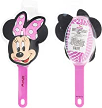 Townley Girl Disney Minnie Mouse Molded Detangling Hair Brush for All Hair Types for Girls, Ages 3+