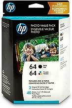 HP 64   2 Ink Cartridges with Photo Paper   Black, Tri-color   N9J90AN, N9J89AN