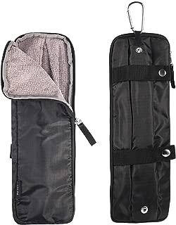 WEISHY 折りたたみ傘 カバー 超 吸水 マイクロファイバー 傘カバー 傘ケース 折り畳み傘用 外付け可能 ビジネス マチあり 携帯便利 30cmまで対応可能 ロングサイズ ブラック